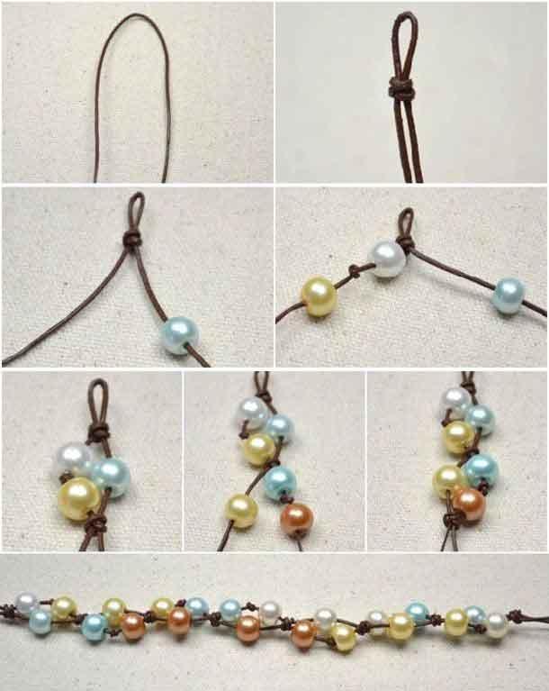 ساخت دستبندهای مرواریدی