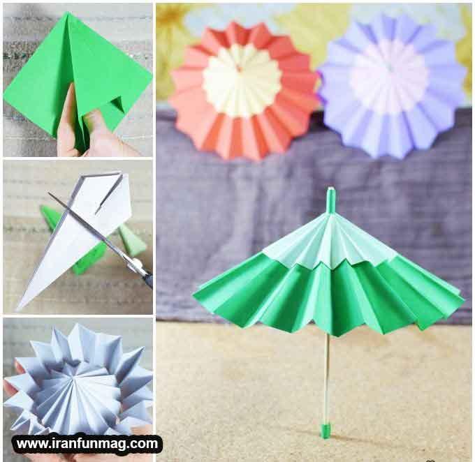 کاردستی چتر کاغذی