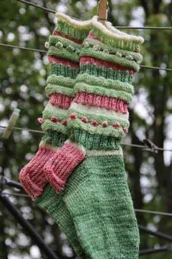 جوراب بافتنی دخترانه